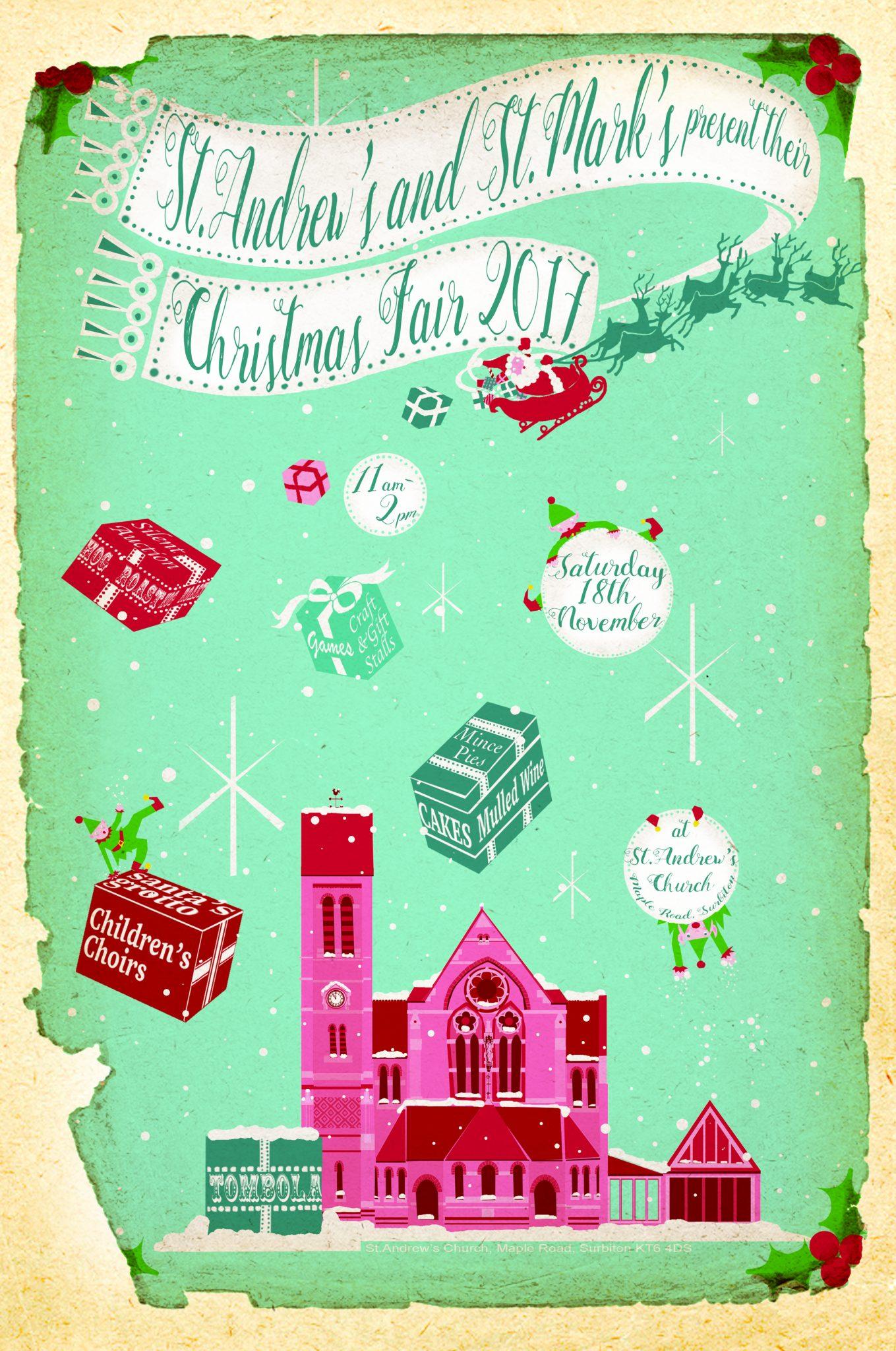 Saturday 18th November 11am – 2pm    St Andrew's Church